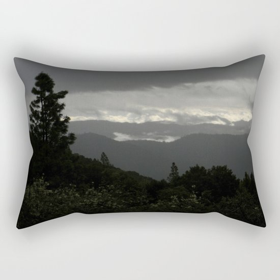 Another stormy day on the mountain... Rectangular Pillow