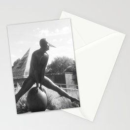 """The """"Wings of the City"""" sculpture exhibit by Mexican Artist Jorge Marín 4 Stationery Cards"""