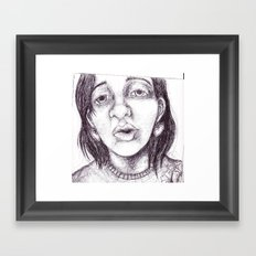 tired talk Framed Art Print