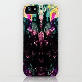 Textured Graffiti Print iPhone Case