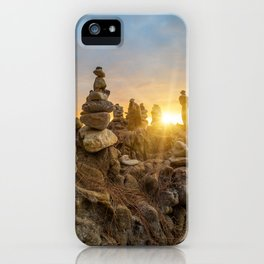 Sunset on the beach in Khao Lak iPhone Case