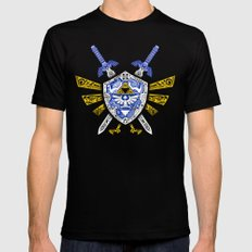 Heroes Legend - Zelda Black MEDIUM Mens Fitted Tee