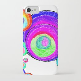 Colorful Secret Geometry | painting by Elisavet #society6 iPhone Case