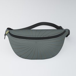 Night Watch PPGs Color of the Year 2019 and Gold Thin Striped Circle 3D Pinwheel Fanny Pack
