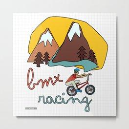BMX Racing Metal Print