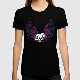 Pink Smiley Wings T-shirt