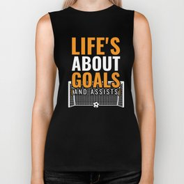Funny Soccer Gift for Soccer players, fans and coaches Biker Tank