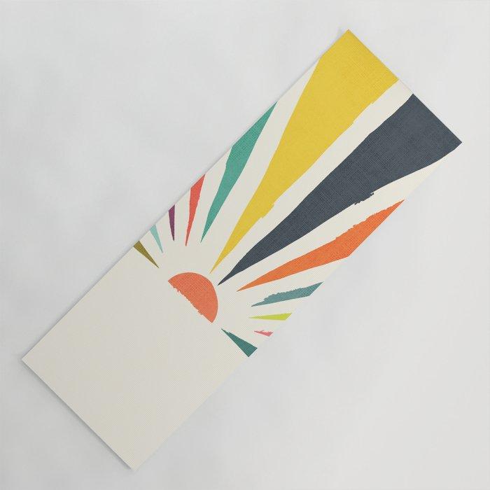 Rainbow ray Yoga Mat