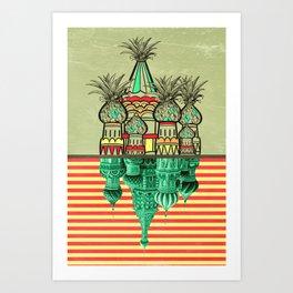 Pineapple architecture  Art Print