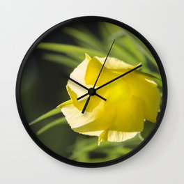 Translucent Yellow with bokeh Wall Clock