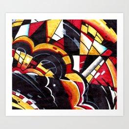 DrsStract1 Art Print