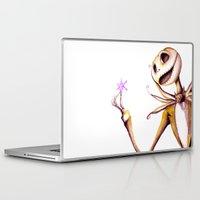 jack skellington Laptop & iPad Skins featuring Jack Skellington by Leanne Engel