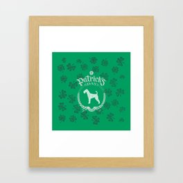 St. Patrick's Day Airedale Terrier Funny Gifts for Dog Lovers Framed Art Print