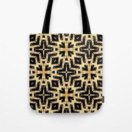 Black and Gold Foil Art Deco Tote Bag
