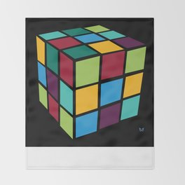 Rubiks Cube Throw Blanket
