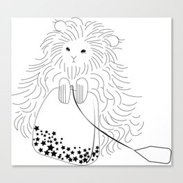Whimsical Hamster with Teabag Canvas Print
