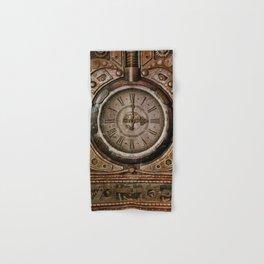 Brown Grunge Vintage Steampunk Clock Hand & Bath Towel