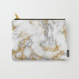 Gold Speckled Marble Carry-All Pouch