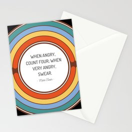 When angry count four when very angry swear Stationery Cards