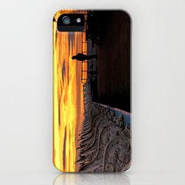 Blackpool pier sunset iPhone Case