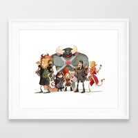 dungeons and dragons Framed Art Prints featuring Dungeons and Dragons by Markus Erdt