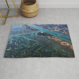 Aerial Photograph   Intracoastal Waterway   Wilmington North Carolina Rug