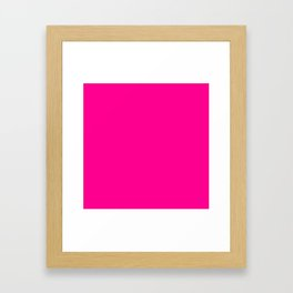 (Magenta) Framed Art Print
