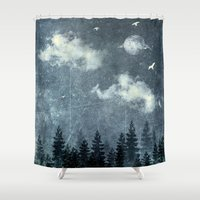 cloud Shower Curtains featuring The cloud stealers by HappyMelvin