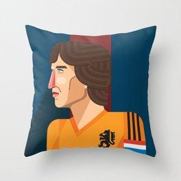 Johan Cruyff, The Godfather of Modern Football Throw Pillow
