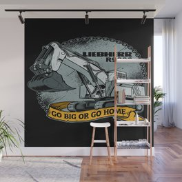 excavator liebherr r9800 Wall Mural