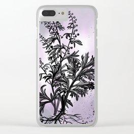 Wormwood Botanical Illustration Clear iPhone Case
