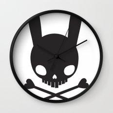 SKULL BUNNY OF PIRATES Wall Clock