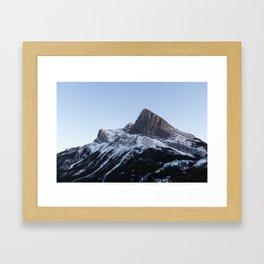 Ha Ling Peak Sunset Framed Art Print