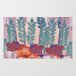 Girl with Flowers Rug