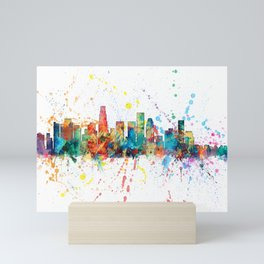 Los Angeles California Skyline Mini Art Print