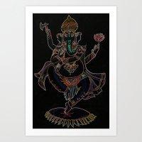 ganesh Art Prints featuring Ganesh by Zack Bryson