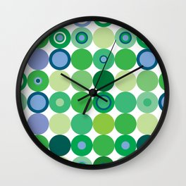 Circles of Luck Wall Clock