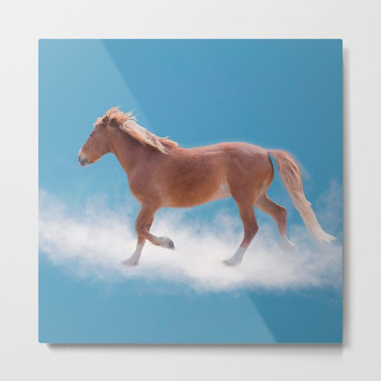 Walking on clouds over the blue sky - version #2 - #society6 #buyart Metal Print