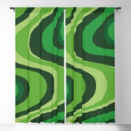 70's Green Vibe Blackout Curtain