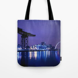 The River Clyde At Night Tote Bag