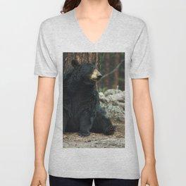 Bear Portrait Unisex V-Neck