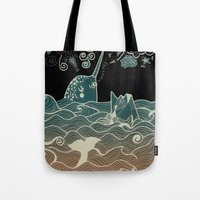 narwhal Tote Bags featuring Narwhal by Judit Canela