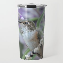 Ms. Hummingbird's Break Time in Mexican Sage Travel Mug