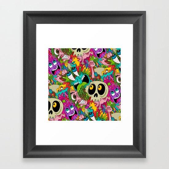 Puke Pattern Framed Art Print