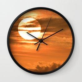 Sunset at debrecen Wall Clock