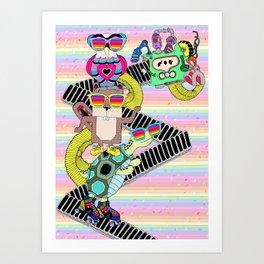 Colorful memories Art Print