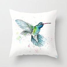Hummingbird Flurry Throw Pillow