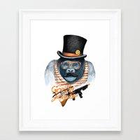 gangster Framed Art Prints featuring Gangster by dogooder