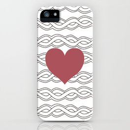 Hearts Woven 02 iPhone Case