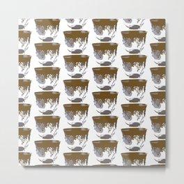 Gahwa Cups Metal Print